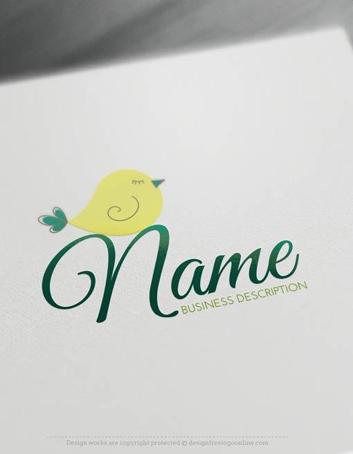 Free-Logo-Maker-bird-Logo-Template