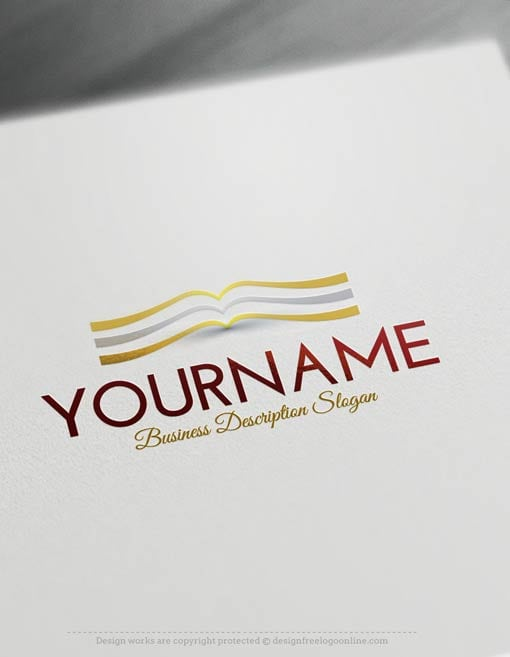 Free-Logo-Maker-book-Logo-Template
