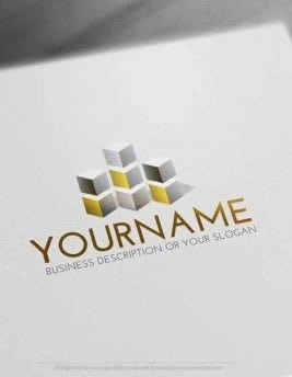Free-Logo-Maker-cube-Tower-LogoTemplates