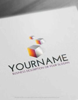 Free-Logo-Maker-cubes-LogoTemplates