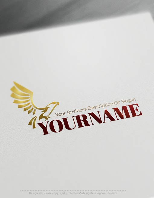 Create a Logo Free - Create your own Eagle fly Logo Template