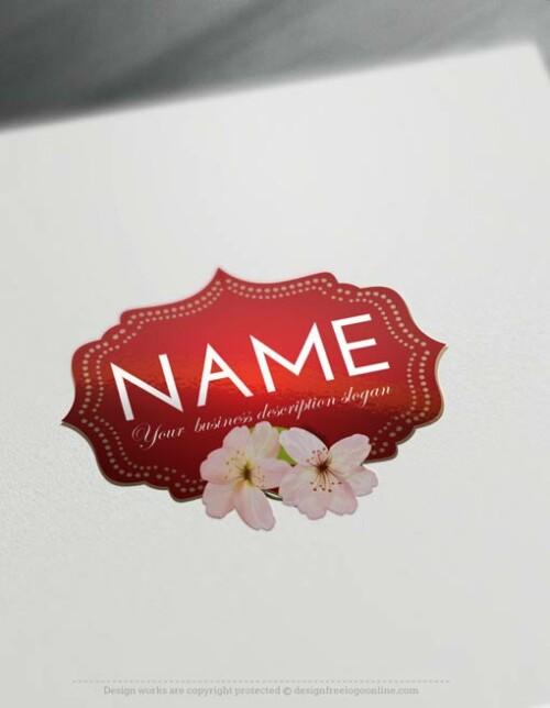 Free-Logo-Maker-flower-frame-Logo-Templates