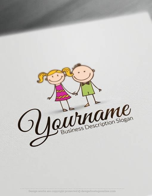 Free-LogoMaker-kids-Logo-Template