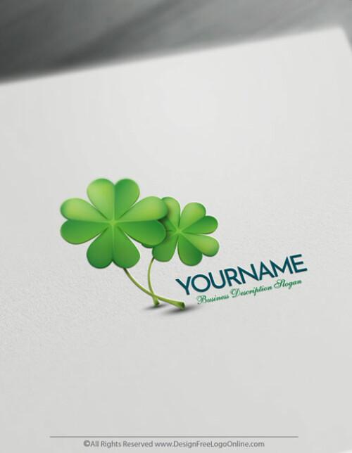 Free Shamrock logo maker - Clover Logo Template