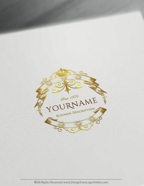 Free Gold Vintage Logo Maker