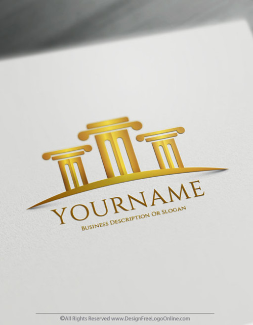 Law Firm Logo Maker - Luxury Court law Logo Template