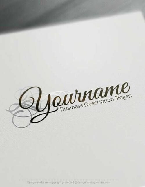 Logo-Maker-flowing-Decoration-Logo-Template