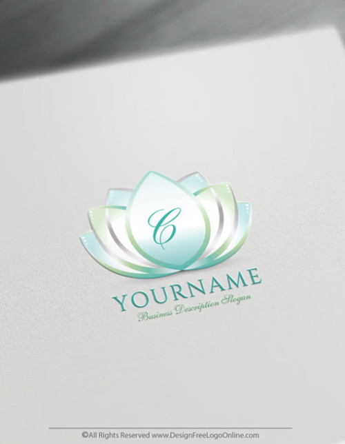 Create flower of lotus Logo For Free with the Logo maker