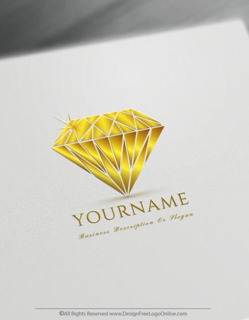 Simple Diamond Logo Design Template
