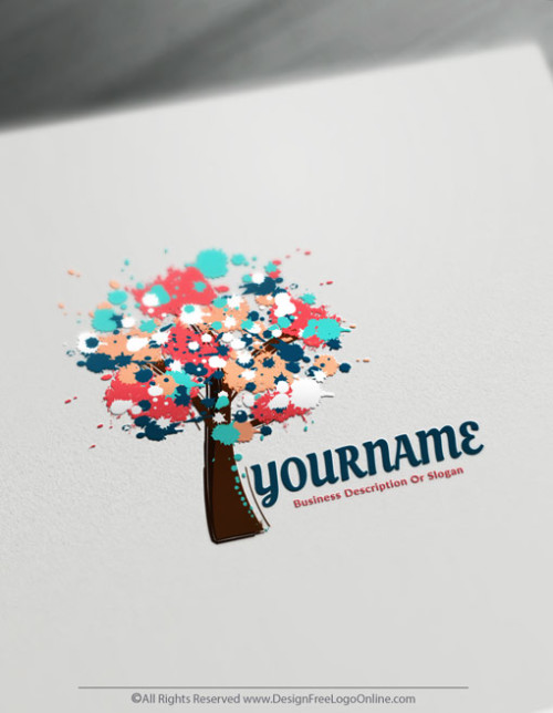 Free Art Logo Maker - Design Paint Tree Logo Template