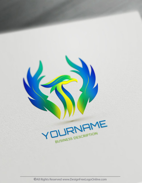 Create Your Own Blue Phoenix Logo with FireBird Template