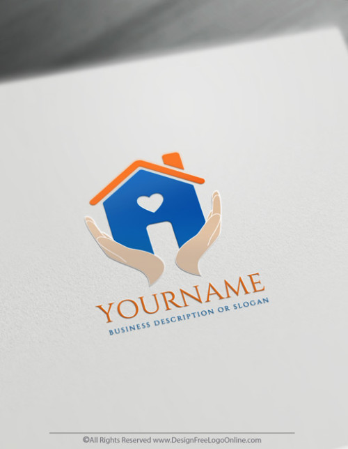 Download your customized Hands Holding House Logo now