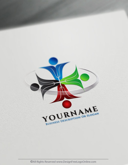 colorful Team Group Logo Design - Free Logo Maker Online