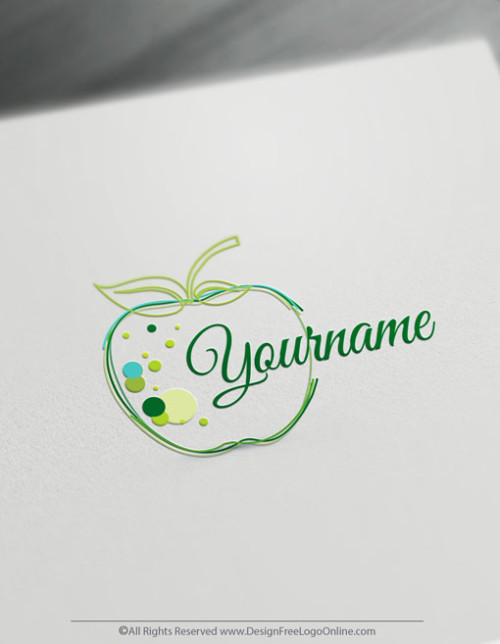 Create a Green Apple Logo Online With the Free Logo Maker