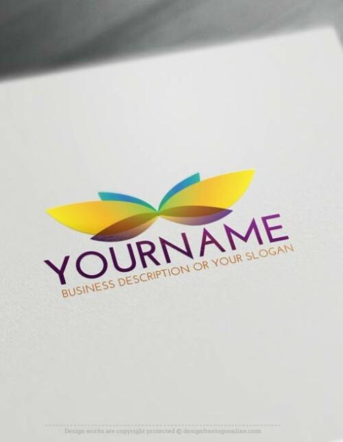 -logo-design-Butterfly-free-logomaker