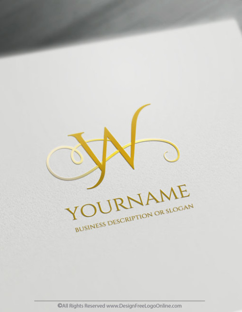 minimalist gold monogram logo maker