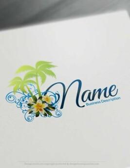 Free Logomaker - Creating Palm beach Logo Template