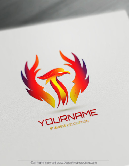 Create Your Own flames Phoenix Logo with FireBird Template