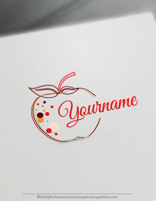 Create a Red Apple Logo Online With the Free Logo Maker