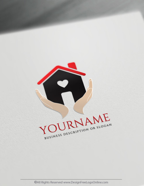 Red roofing logos with hands
