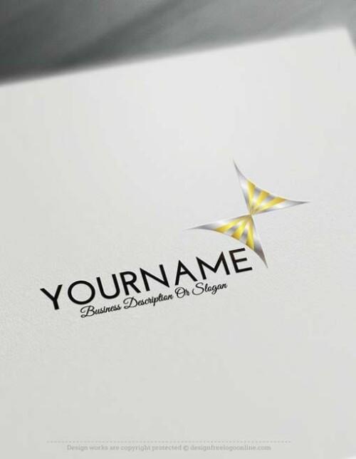 -silver-Butterfly-logo-free-logomaker