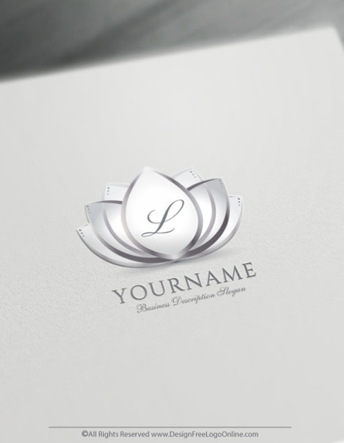 silver wedding flower logo