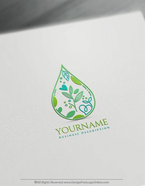 Drop & Leaf Logo Template - Create a Medical Logo Free