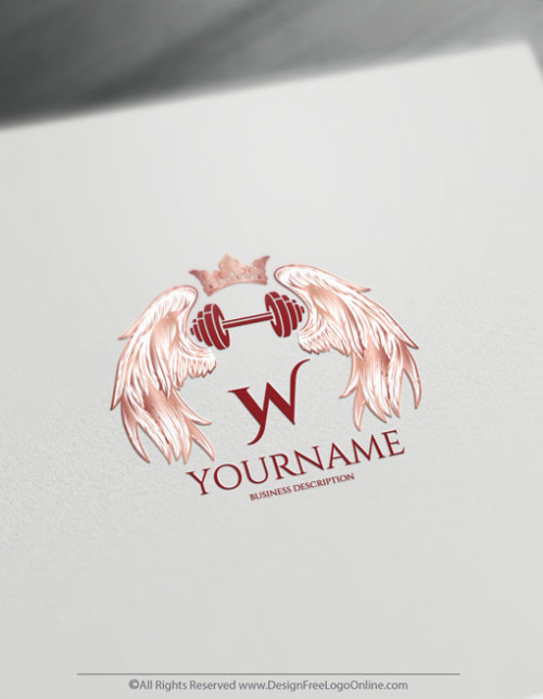 Create woman Fitness Logo For Free with the female Gym Logo Template