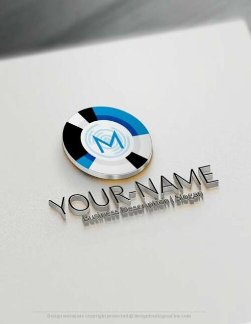 Free Logo Maker - Online Target Initials Logo design