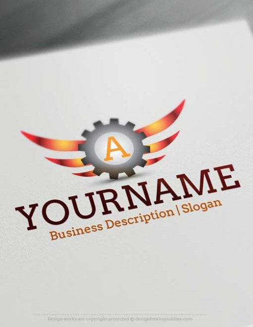Free Logo Maker - Online Industrial gear Initials Logos
