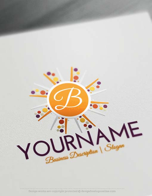 Free logo maker make your own alphabet sun logo for Draw your own logo free