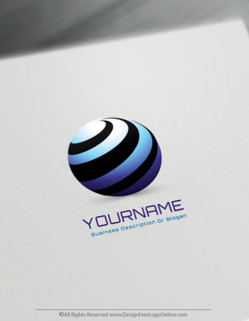 Create a Round Spiral logo with free 3D logo maker