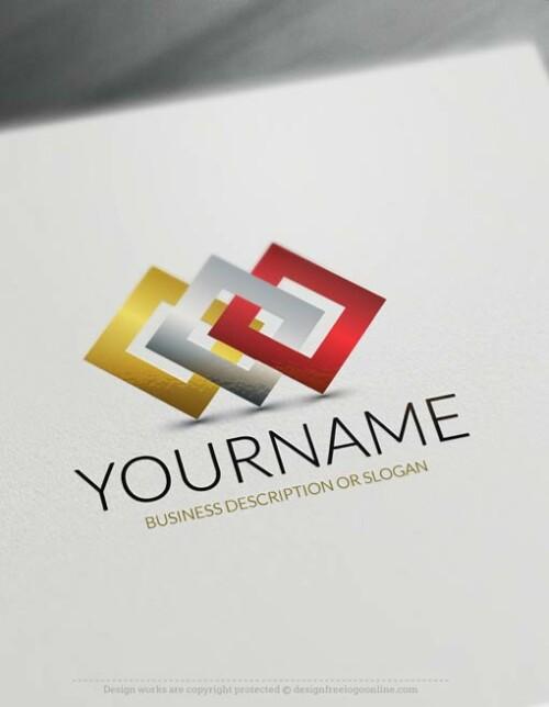 Free Logo maker – Connection Logo Template