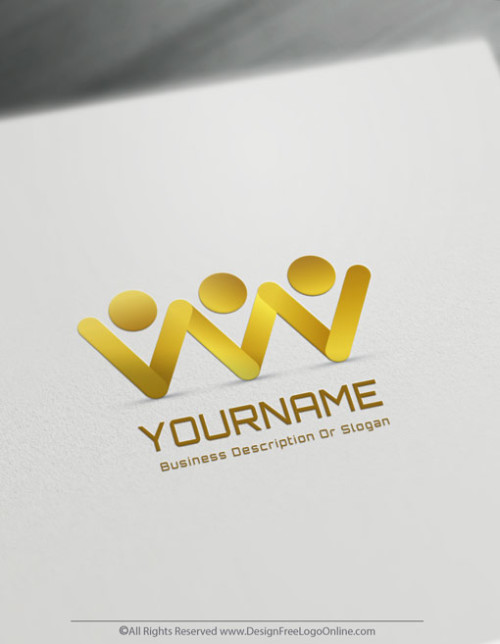 Create a business Logo in Gold color