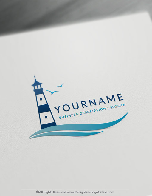 Create a Logo For Free with the lighthouse Logo Template