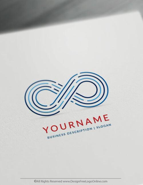 Digital Infinity Logo Template blue