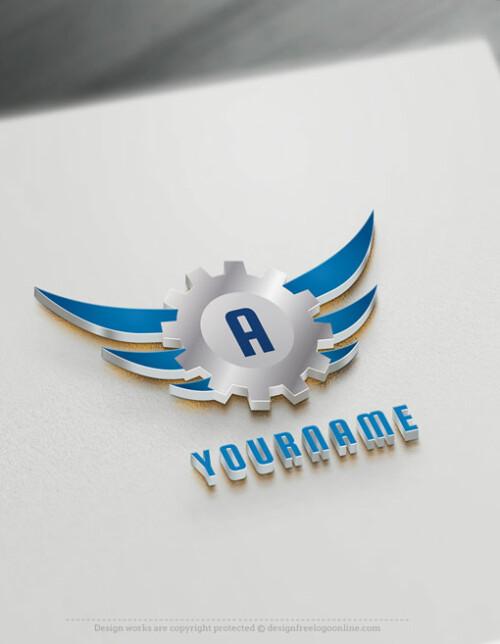 Free Industrial Logo Maker - Online Gear Logo Brand