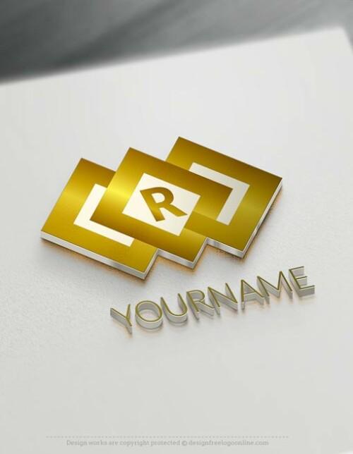 Free Gold Letter Logo Maker