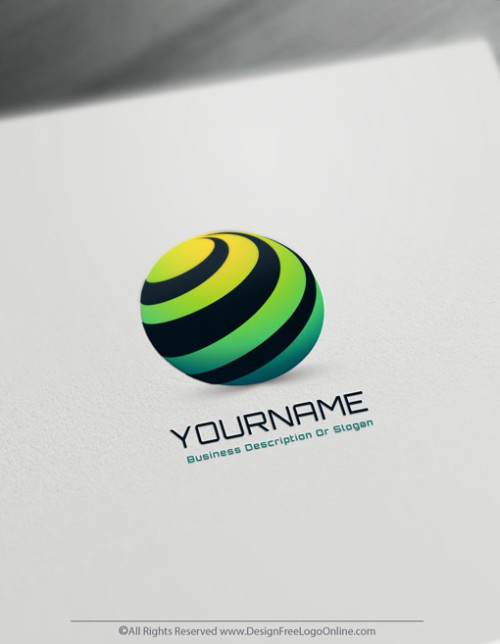 free logo with 3D Spiral