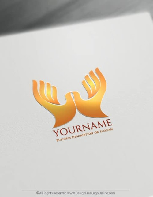 Create a Hands Logo For Free - Hands Holding Logo Templates