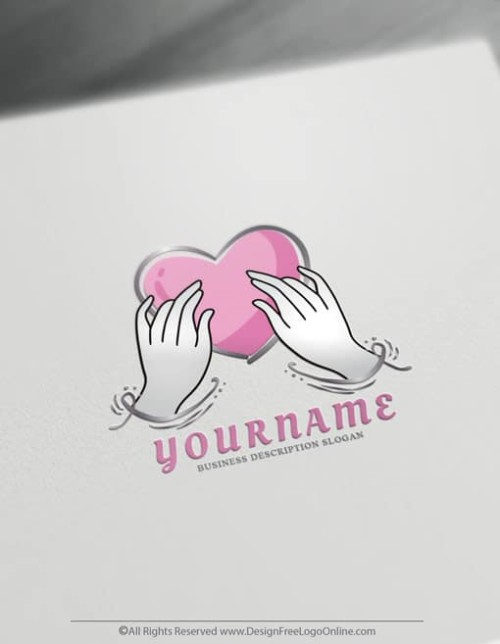 pink heart Hand Drawn image maker