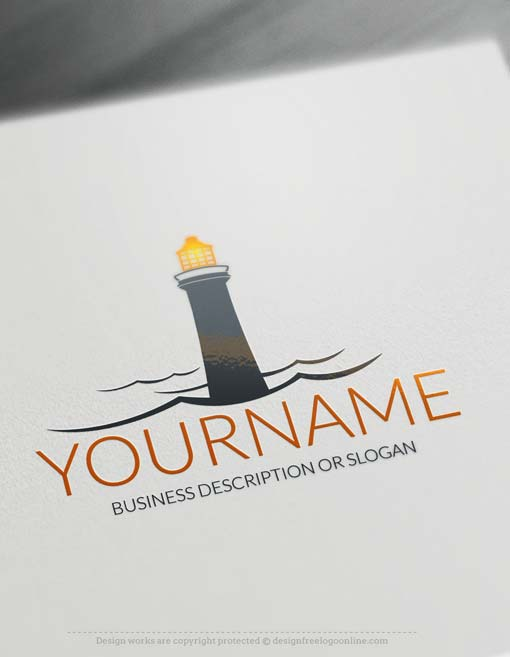 Free Logo Maker - Lighthouse Logo design