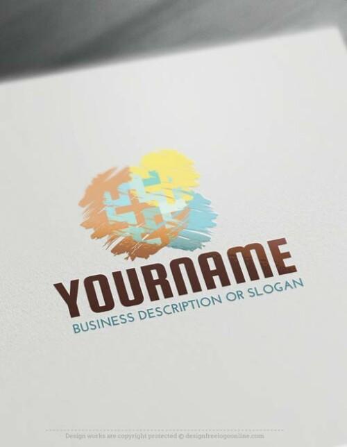 Painbrush-logo-free-logomaker