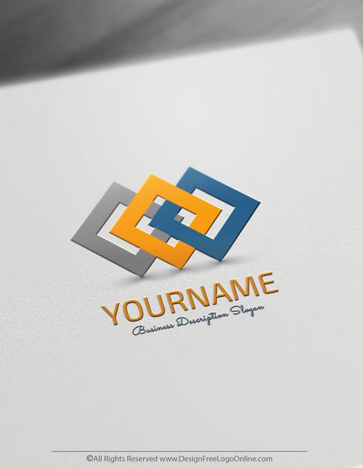minimal connected squares logo