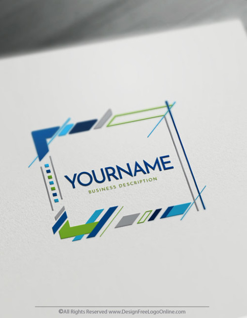 Abstract frame Logo creation made easy with free logo maker online tool.