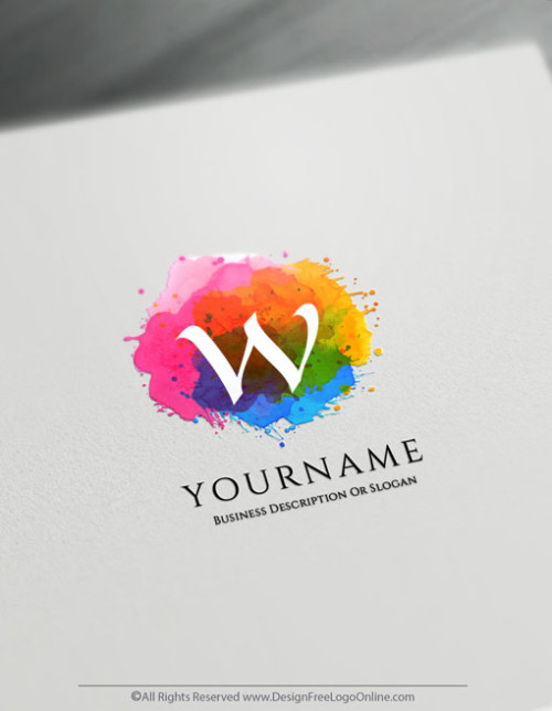 Create watercolor Logo For Free with the splash Art Logo maker