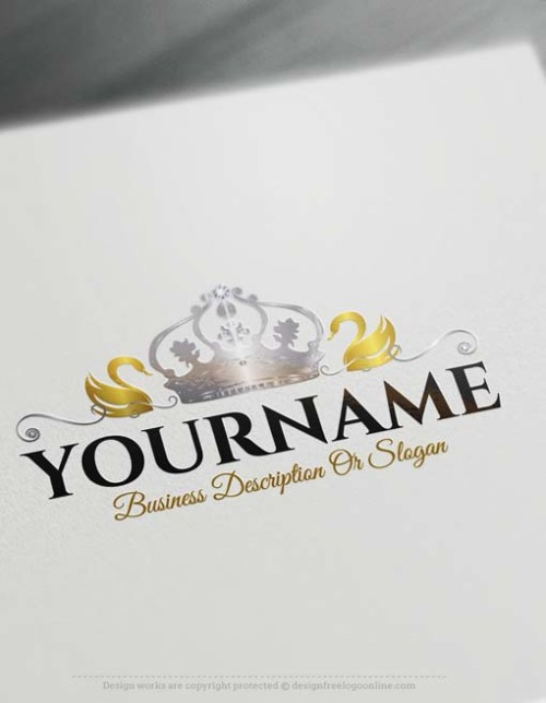 crown-swan-logo-design