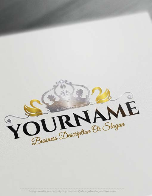 Create a logo free swan crown logo design colourmoves