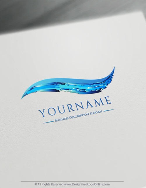 deep blue sea water logo maker