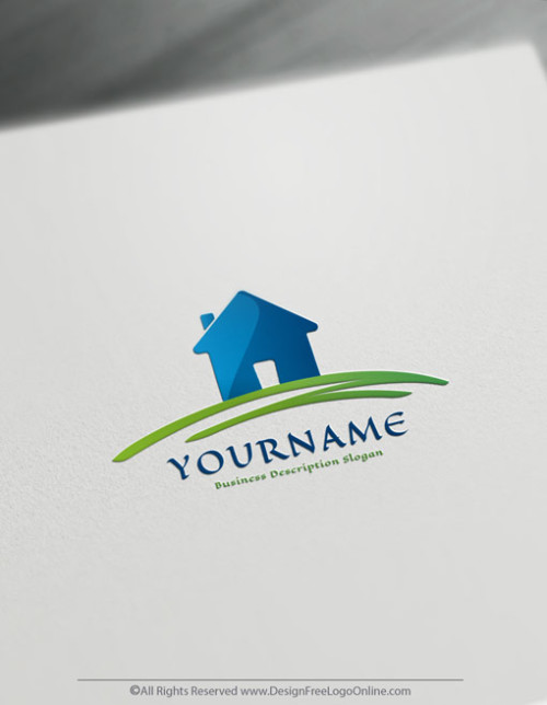 Create a Realtor logo with the free Real Estate house logo maker